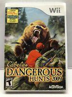 Cabela's Dangerous Hunts 2009 (Nintendo Wii, 2008) Clean & Tested Working