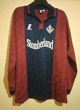 Firmado Oldham Athletic Club Fútbol 2000 L/S Away Camiseta Paul Rickers XL cert. de autenticidad en muy buena condición