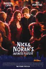 NICK AND NORAH'S INFINITE PLAYLIST Movie POSTER 27x40 Alexis Dziena Michael Cera