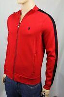 Polo Ralph Lauren Red Full Zip Sweatshirt Track Jacket Black Pony NWT