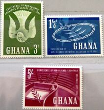 GHANA 1961 103-05 101-03 Conference non aligned Nations Dove Taube Konferenz MNH