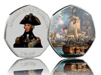 HORATIO NELSON & THE BATTLE OF TRAFALGAR Full Colour Silver Commemorative Albums