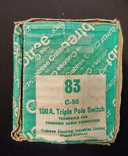 CRABTREE C-50 100A TRIPLE POLE MAIN SWITCH, ISOLATOR 100AMP 3 PHASE   * BNIB *