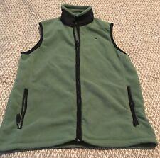 Vineyard Vines Vest Fleece Sweater Boys Green XL 20 Extra Large Navy Blue