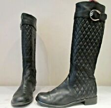 STUART WEITZMAN RUSSELL AND BROMLEY BLACK LEATHER BOOTS UK 7.5 (3504)