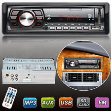 Car Stereo Audio 1 DIN In-Dash FM Aux Input Receiver SD USB MP3 WMA Radio Player