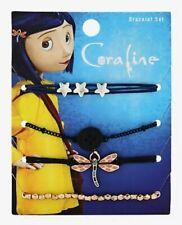 Coraline Dragonfly Stars Button Beeds Cord Bracelet Set