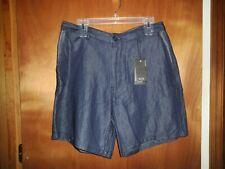 Armani Exchange Men's Denim Shorts Blue Cotton Linen Bermuda NWT $110