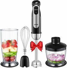 Aicok 4-in-1 Hand Blender, Stick Blender with 5 Speed Control, Powerful Hand Mix