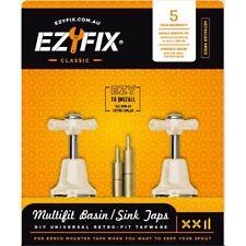 Ezyfix CLASSIC BASIN/SINK MULTIFIT TAP SET Solid Brass IVORY *Australian Brand