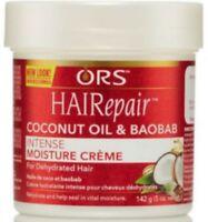 Organic HAIRepair coconut oil - baobab Intense Moisture Creme 5 oz (Pack of 4)