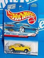 Hot Wheels 1998 First Editions #11 Mercedes SLK Mtflk Yellow w/ 5HOs