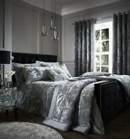 Luxury Crushed Velvet Silver Duvet Covers by Catherine Lansfield