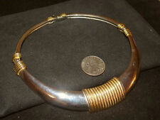 Vintage Chic Runway Choker Cleopatra like Necklace signed DONALD STANNARD Deco