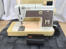Vintage Singer Touch & Sew Zig-Zag 758 Sewing Machine with pedal and case