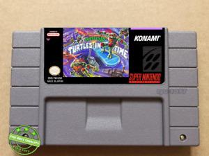 Turtles IV Turtles In Time Super Nintendo Game SNES. Read Description