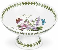 Portmeirion Botanic Garden Porcelain Scalloped Edge Footed Bowl, 7 Inch