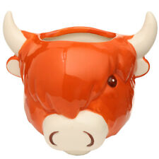 More details for highland coo cow ceramic indoor wall planter / plant pot decorative