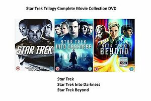 STAR TREK TRILOGY COMPLETE MOVIE FILM COLLECTION DVD INTO DARKNESS BEYOND UK R2