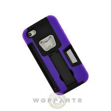 Apple iPhone 5/5S/SE Bottle Opener Hybrid Case w/ Stand - Purple Case Cover