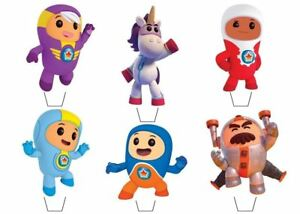 Go Jetters Theme Edible Wafer Cup Cake Toppers Standing or Disc