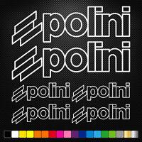 Compatible POLINI 6 Stickers Autocollants Adhésifs  Moto Voiture Sponsor Marques