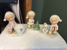 Vintage Homco Christmas 5613 Children Figurine Set