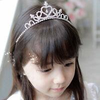 Strass Tiara Haarschmuck Haarband Kinder Mädchen Hochzeit Braut Krone PAL