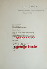 JACK WEBB - LETTER - SIGNED -1962 -  DRAGNET - SERGEANT JOE FRIDAY - WAGON TRAIN
