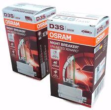 D3S OSRAM NIGHT BREAKER UNLIMITED Xenarc Xenon Brenner +70% 2 Stk. 66340XNB