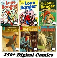 LONE RANGER TONTO & SILVER 250+ Comic Collection DELL #1-145 RUN Gold Age on DVD