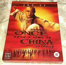Once Upon a Time in China Trilogy 3 Disc DVD Hong kong Legends UK Jet Li
