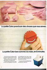 Publicité Advertising 1976 La machine à laver La petite Calor