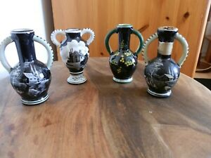 Italian Drioli Miniature Liqueur Bottles 50s -70s Alla Moda Retro Pottery