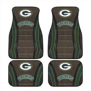 Green Bay Packers Universal Car Front/Rear Floor Rugs 2/4 PCS Car Floor Mats New