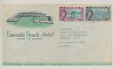 LM76802 Bahamas 1958 to France airmail cover with nice cancels used