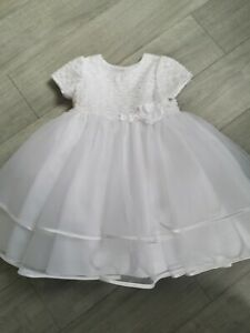 Sarah Louise Christening White Dress Occasion Dress Age 18 Months
