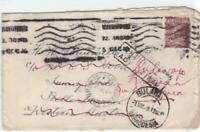 bulawayo rhodesia 1925  heavy cancelled unclaimed stamps cover ref r14491