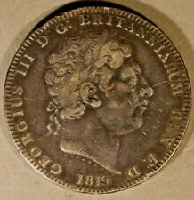 1819 Great Britain Crown Silver ANNO LX, Nice Details   ** FREE U.S. SHIPPING **