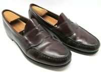 Bass Weejuns Mens Burgundy Moc Toe Penny Loafers Size US 10.5 D    Handcrafted