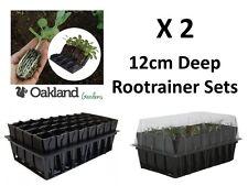 2 X Haxnicks Deep Rootrainer Set Root Trainer Books Cells Plug Plant Seed Tray