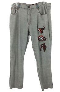 Legendary Status Chicago Bulls Jeans Mens Tag 42 Measure 40x30 Hip Hop Fly Logo