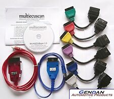 MultiECUScan Hardware & Software Diagnostic Bundle for Fiat, Alfa Romeo, Lancia