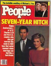 PRINCESS DIANA PRINCE CHARLES People Magazine 8/1/88 MICHAEL J FOX