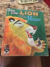 The Lion And The Mouse Whitman Top Top Tales Book HC 1961