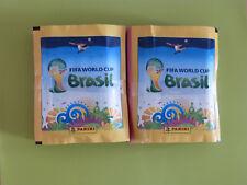Panini WM 2014 in Brasilien FIFA WorldCup, 100 Tüten / 500 Sticker und Leeralbum