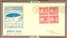 USA Olympische Spiele Olympic Games 1932 First Day cover airmail cachet RRR