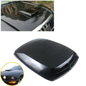 1x Car Air Flow Side Vent Sticker Front ABS Fit For Most Vehicles Black