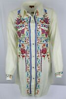 Scully Women's Honey Creek Floral Embroidery Button Up Blouse M,L, or XL HC418