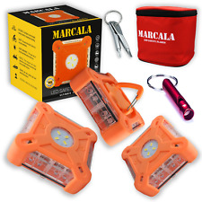 2020 Marcala 3 Pack Led Road Flares With Batteries 3 Bonuses Included